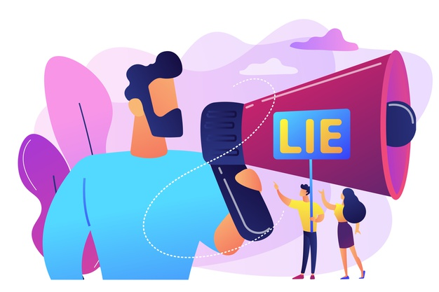 corrupt lying